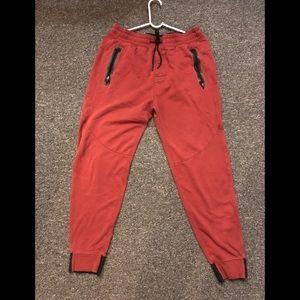 Men's Small A& F Jogger pants with zipper pockets
